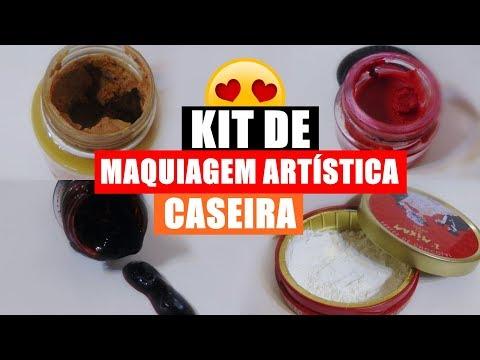 KIT DE MAQUIAGEM ARTÍSTICA CASEIRA, por Larissa Vieira