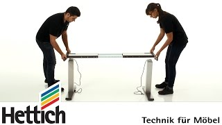 Hettich Legadrive Systems: Installation Of Power Assisted Adjustable Desks