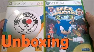 Table Tennis \ Sega Superstars Tennis - Xbox 360 - UNBOXING