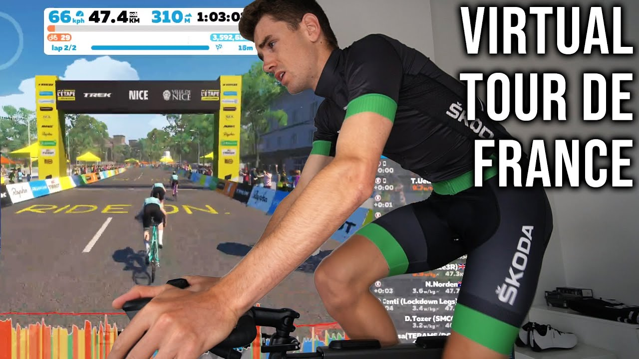 I took part in the FIRST 'Virtual Tour De France'...