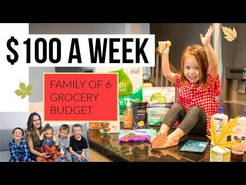 Family of 6 $100 Weekly Grocery Budget / Grocery Haul - YouTube