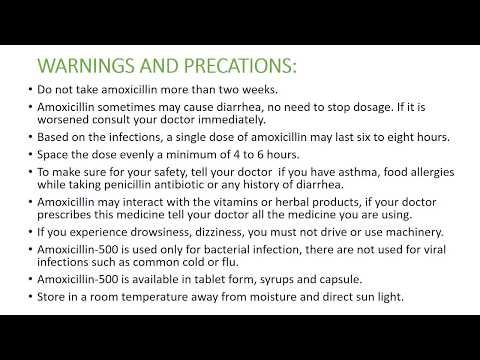 Amoxicillin 500mg  uses