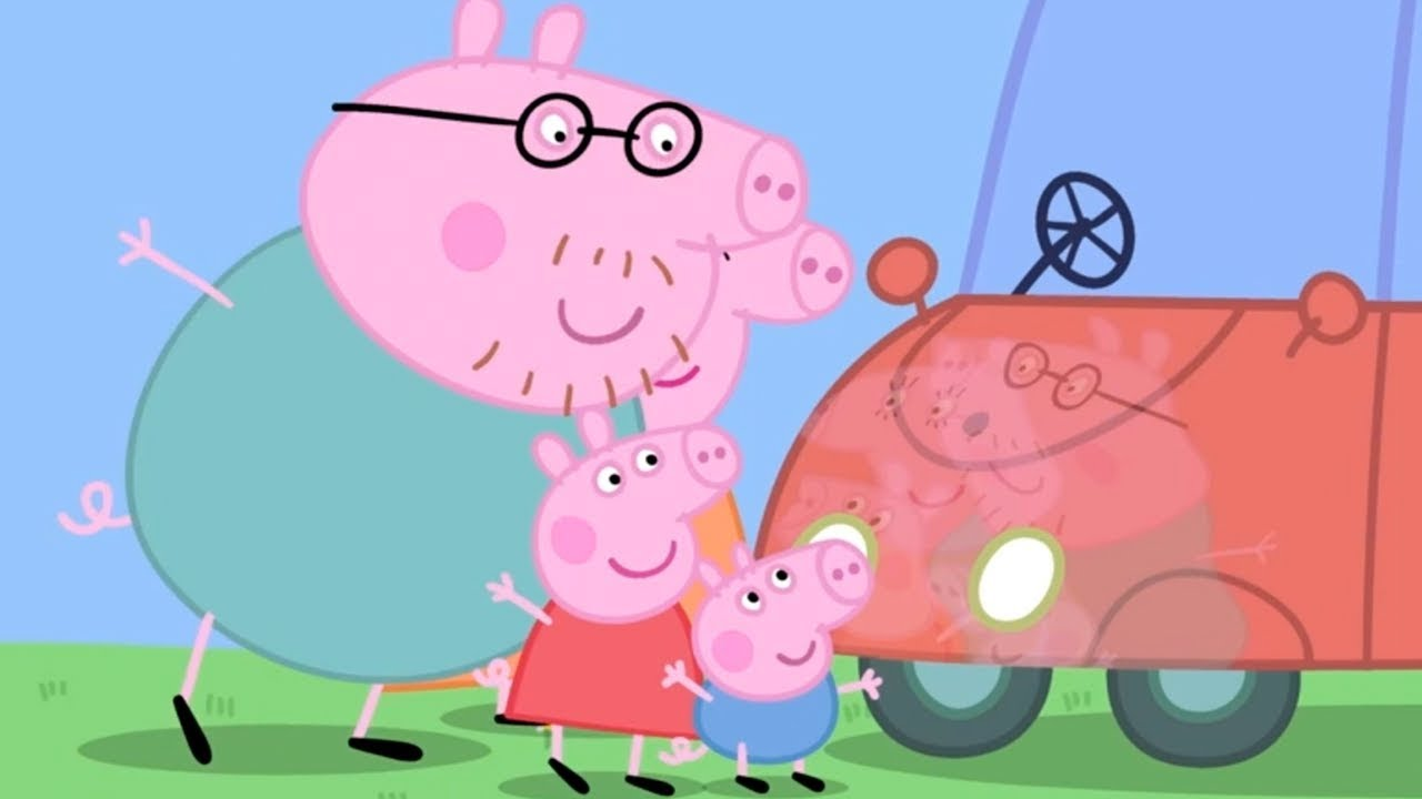 Peppa pig italiano macchina pulita e cigolante cartoni for Peppa in italiano