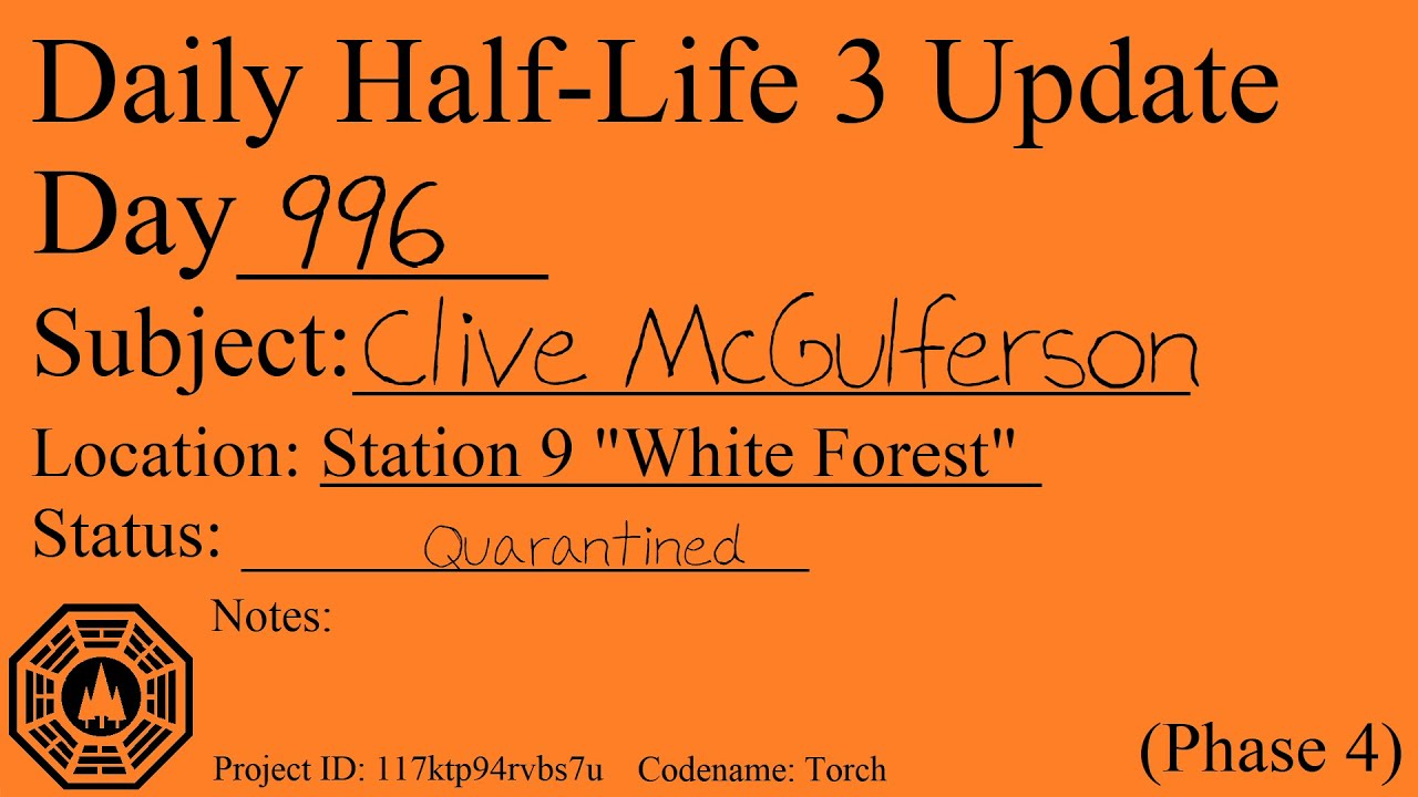 Daily Half-Life 3 Update: Day 996