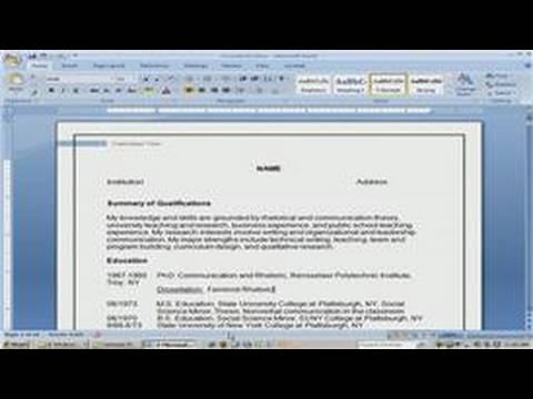 Resume Writing Tips : How to Write an Academic CV