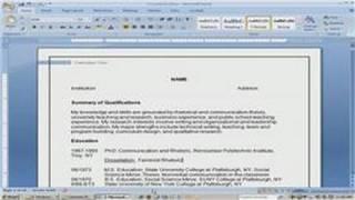 Resume Writing Tips : How to Write an Academic CV