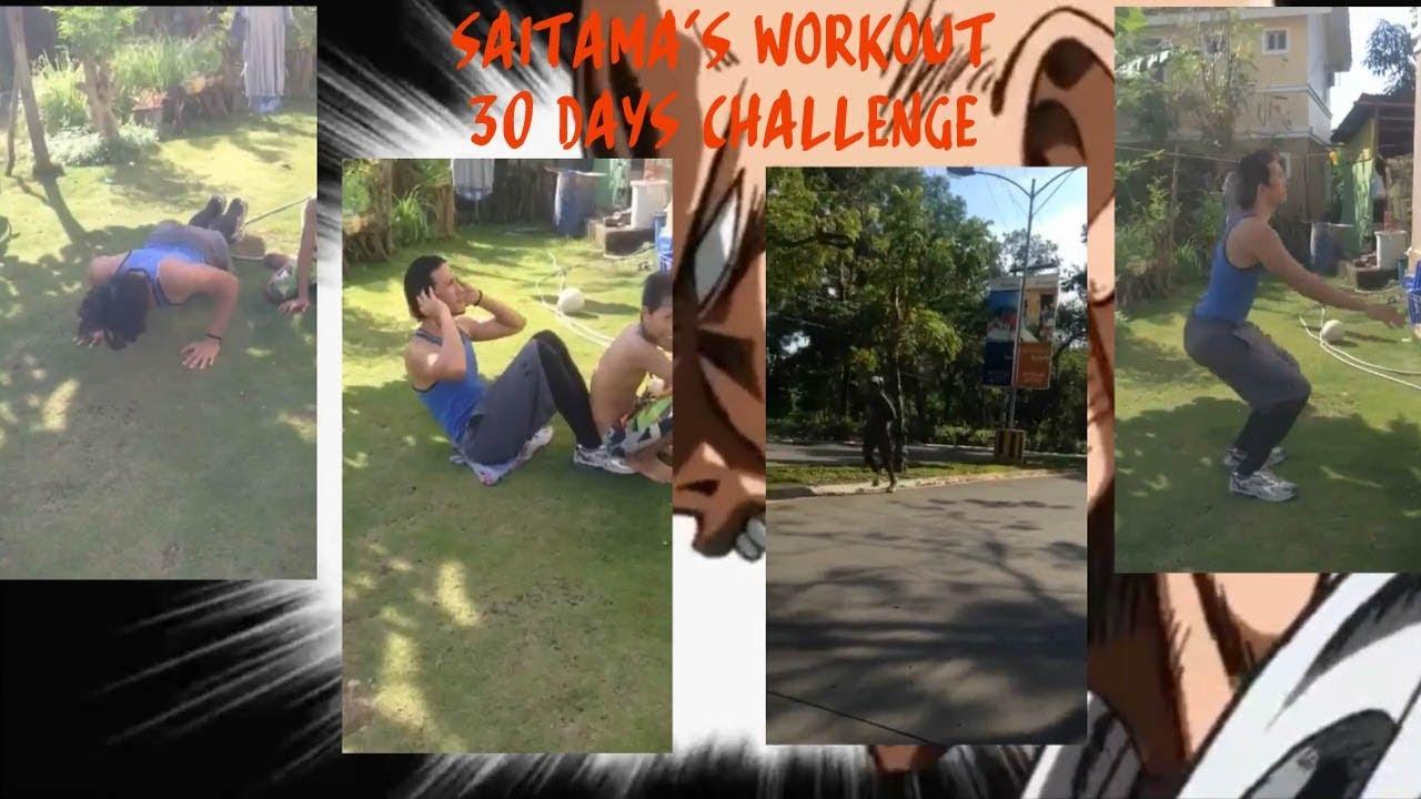 Saitama's Workout - 30 days Challenge (One Punch Man)(Day1 ...