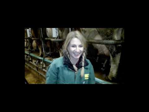 Sabrina, kannst du eigentlich...Kühe melken?