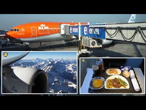 ORANJE KLM B777-300 BUSINESS CLASS to Chile - most beautiful