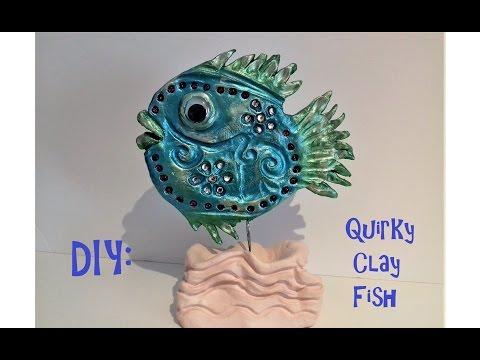 ❤ DIY - Quirky Clay Fish For #lovesummerart2017