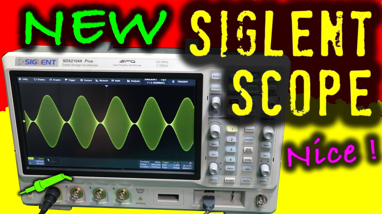 #696 NEW Siglent SDS2104X Plus Touchscreen Oscilloscope Unboxing and First Look! - Part 1