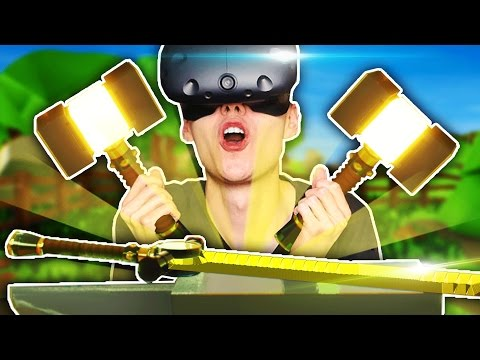 MY LITTLE BLACKSMITH SHOP IN VIRTUAL REALITY! (Craft Keep VR HTC Vive Funny Gameplay)