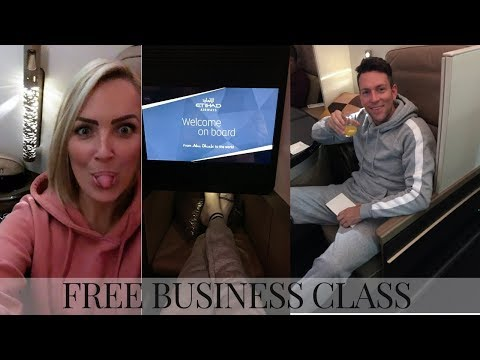 ETIHAD BUSINESS CLASS | WE GOT UPGRADED FOR FREE | INDIA
