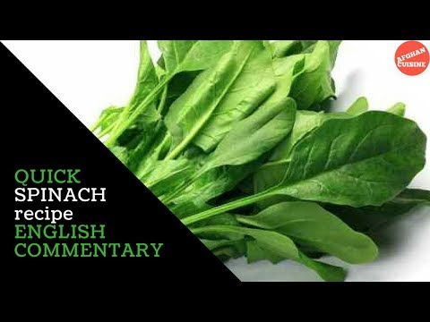 Simple Spinach Curry recipe in English - Afghan food 'Afghan Cuisine'