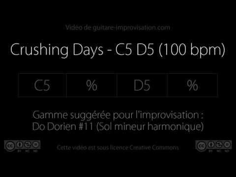 Crushing Days - C5 D5 (100 bpm) : Backing track