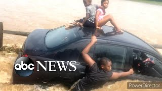 Man saves family of 4 from floodwaters caused by Tropical Storm Isaias