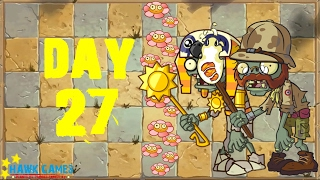 Plants vs Zombies 2 - Ancient Egypt - Day 27 [Don't Trample the Flowers] No Premium