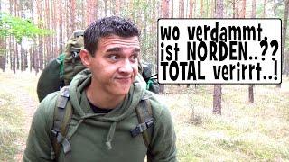 """""""Survival Mattin"""" verirrt sich im Wald und versucht NORDEN zu finden"""