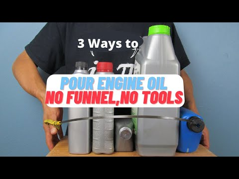 How To Pour Engine Oil  | NO FUNNEL,NO TOOLS