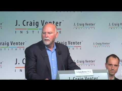 "Craig Venter unveils ""synthetic life"""