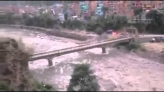 Landslide In Kaligandaki Nepal video 2015