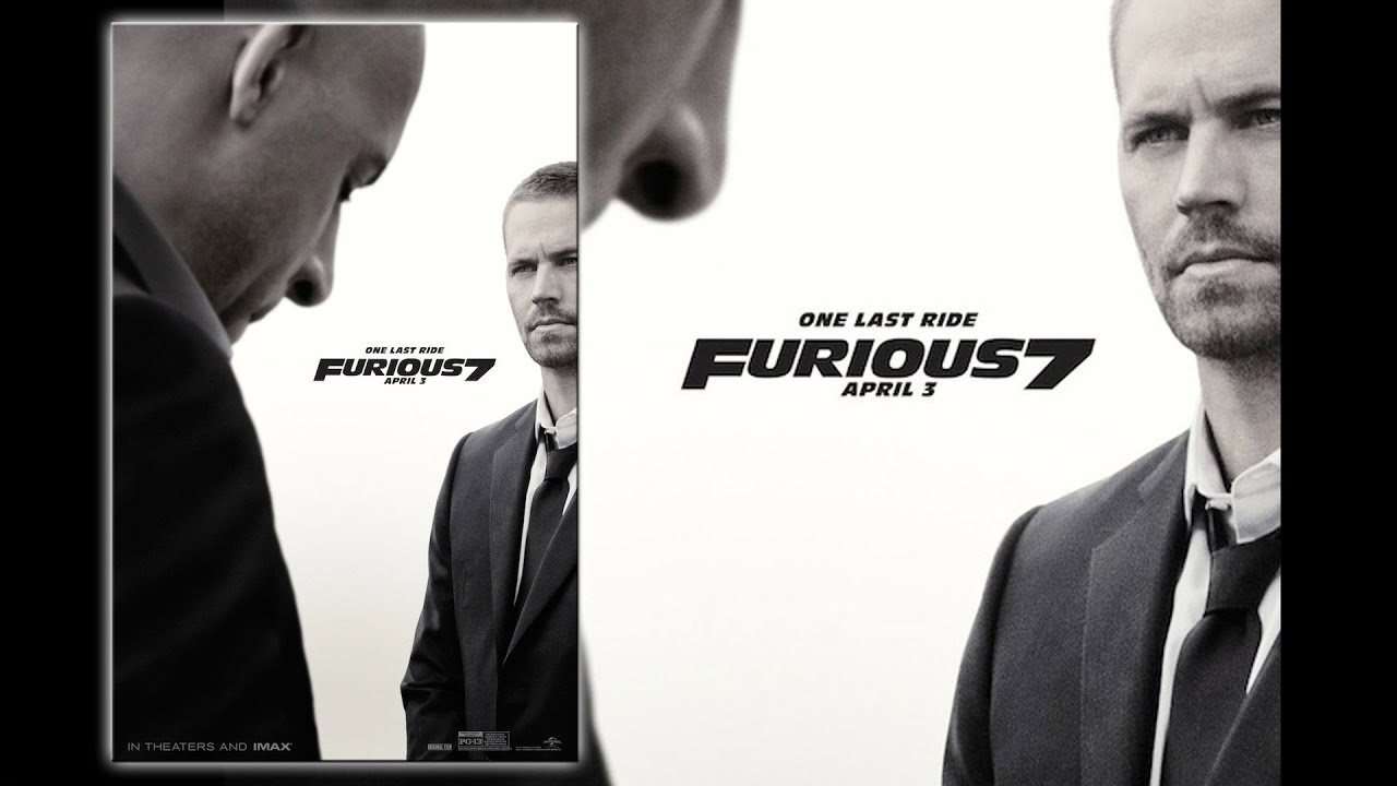 New FURIOUS 7 Poster Features Paul Walker Tribute