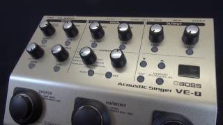 The BOSS VE-8 Acoustic Singer Vocal and Guitar Effects Processor Review