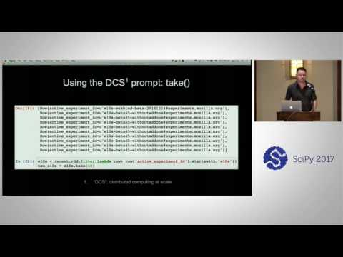 Terabytes at Your Fingertips - Interactive Big Data Coding with PySpark   SciPy 2017   Sam Penrose
