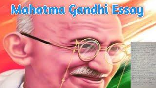 Mahatma Gandhi essay    10 liฑes essay on Mahatma Gandhi in English