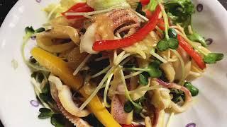 한치 해파리냉채 만들기 • 겨자소스만드는법