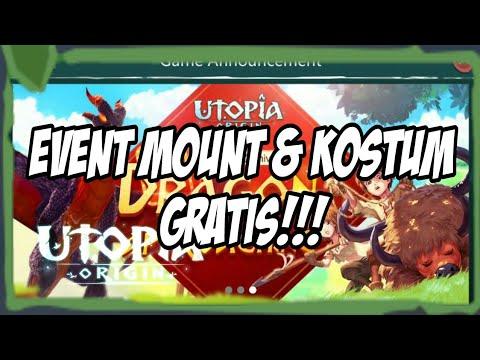 Cara dapetin Mount & Kostum gratis - Utopia origin Indonesia