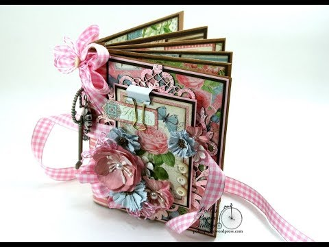 Vintage Botanical Tea Envelope Mini Album Scrapbook Polly's Paper Studio Flip Through Graphic 45