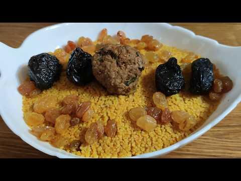 recette-traditionnelle-tunisienne-couscous-aux-boulette,-voyage-culinaire-😷👈
