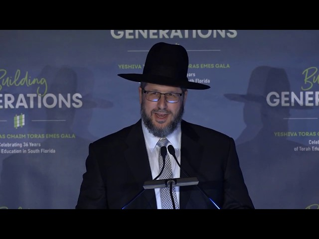 Rabbi Mordechai Palgon Speaking at the Building Generations Gala Dinner