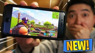 PLAYING Fortnite on Mobile LIVE! - First Gameplay (iOS & Android) - How to Download