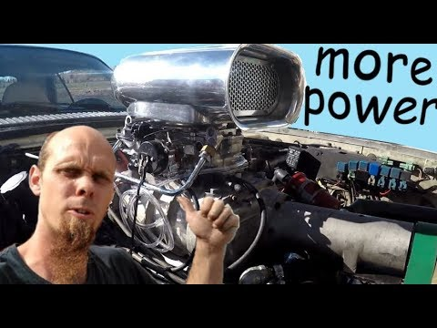 weiand / b&m 144 supercharger install on small block chevy powered jaguar xjs