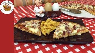 En pratik pizza tarifi - Tavada pizza tarifi