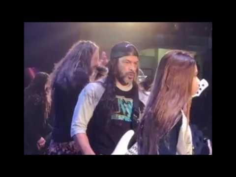 Metallica's Rob Trujillo and son Tye both played bass w/ Korn for Blind in Peru!