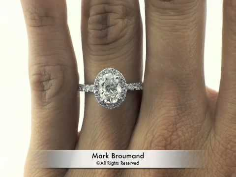 2 46ct Oval Cut Diamond Engagement Anniversary Ring Mark