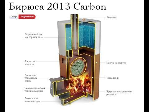 Печи для бани «Термофор». Опытный отзыв. Бирюса Carbon Терракота (со встроенным баком).