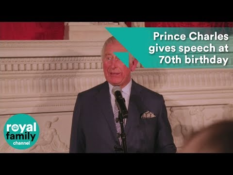 Prince Charles gives rare speech at 70th birthday event