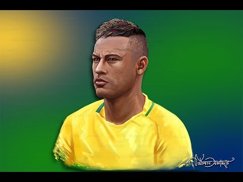 Neymar Digital Painting tutorials  2018 /Digital Arts Step by Step/Artist Milan Samaddar