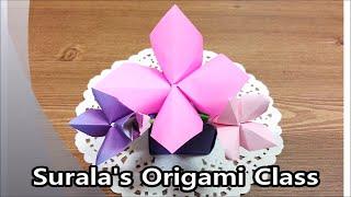Origami - Gladiolus (flower) / 종이접기 - 글라디올러스 (꽃)