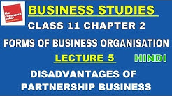 Disadvantages of Partnership | Business Studies Class 11 Chapter 2 Lecture 5