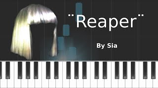 "Sia - ""Reaper"" Piano Tutorial - Chords - How To Play - Cover"