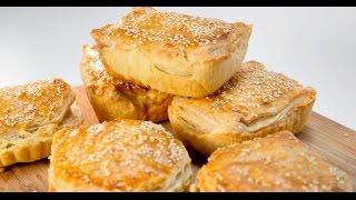 Порционные пироги с курицей, баклажаном и грибами | Теле-теле-тесто