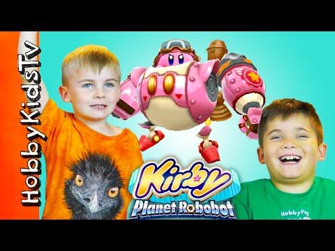 Kirby Planet Robobot! HobbyFamily Video Game Night HobbyKidsTV
