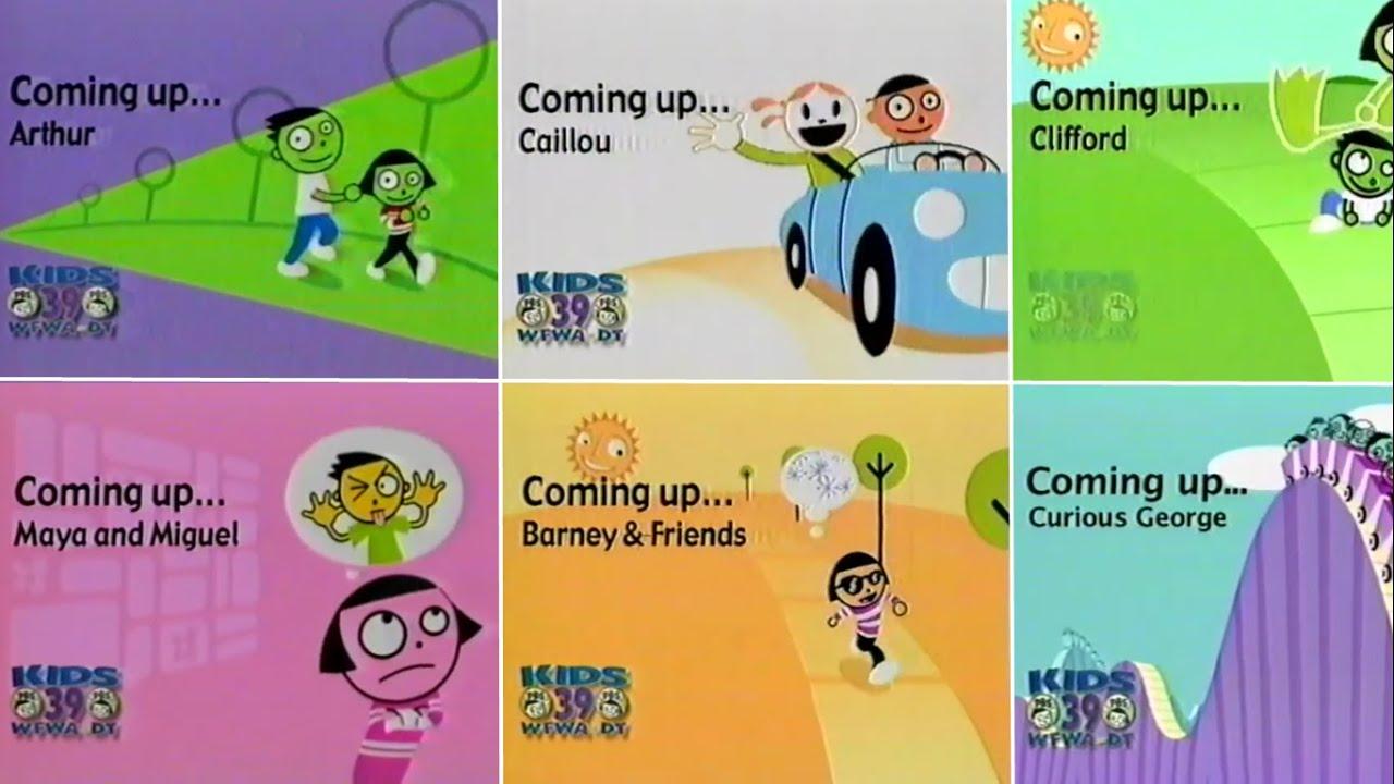 PBS Kids Schedule Bumper Compilation (2004-2010 WFWA) | Doovi