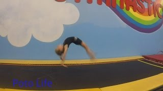 Learning back handsprings, 5 year old gymnast