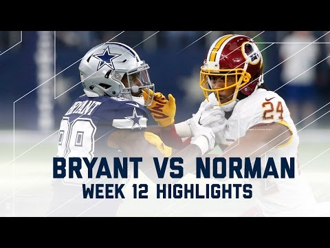 Dez Bryant vs. Josh Norman Thanksgiving Day Highlights | Redskins vs. Cowboys | NFL